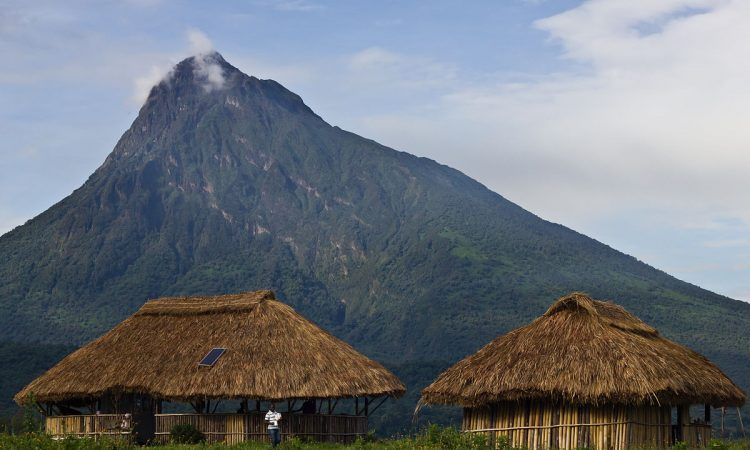 Virunga Mountains in Congo